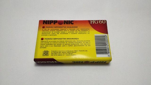 Fita Cassete Virgem Nipponic Lacrado HG 60 Magnético Preço de unidade - Foto 3
