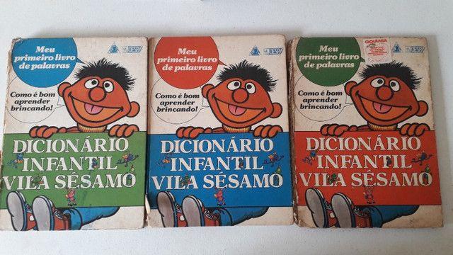 Livros Dicionario infantil Vila Sésamo, editora Maltese, Ruth Rocha. 3 volumes