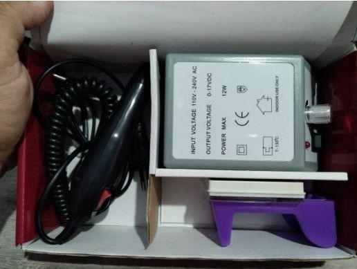 Lixa de unha eletrica com motor + kit de lixas _ b07 - Foto 2