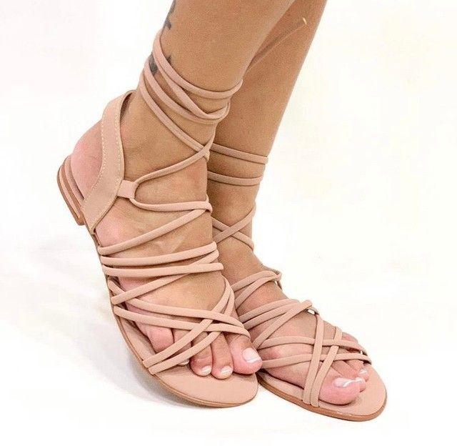 Sandalia de amarração número 35