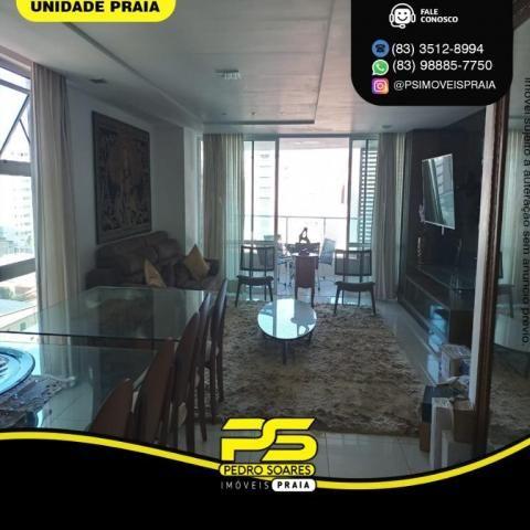 Apartamento com 3 dormitórios para alugar, 157 m² por R$ 6.500/mês - Tambaú - João Pessoa/ - Foto 9