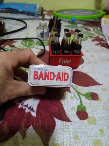 Lata de Band-aid antiga !!!! - Foto 5