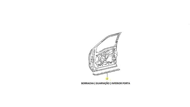 borracha inferior original porta f 250 ano 99-2000-2001-2002-2003-2004-2005-2006 a 2011 - Foto 2