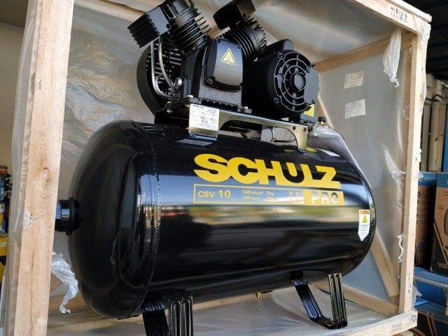 Compressor de Ar 10 Pés 100L 2HP 140PSI Monofásico - Schulz Pro CSV10/100 - Foto 2