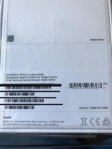 Iphone 12 PRO 256 GB - Azul - Lacrado com NF - Foto 3