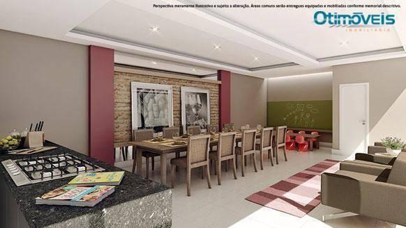 Apartamento com 2 dormitórios à venda, 56 m² por r$ 345.900,00 - santo inácio - curitiba/p - Foto 9
