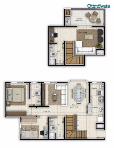 Cobertura com 3 dormitórios à venda, 101 m² - ecoville - curitiba/pr - Foto 2