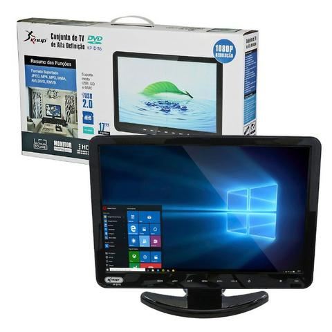 Tv Monitor 15,4 Pol KP-116 Knup Lcd Hd 1080p Dvd Player Hdmi Vga Usb - Foto 2