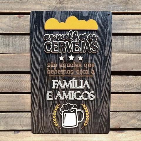 Placa Alto Relevo Frases As Melhores Cervejas Casa Bares