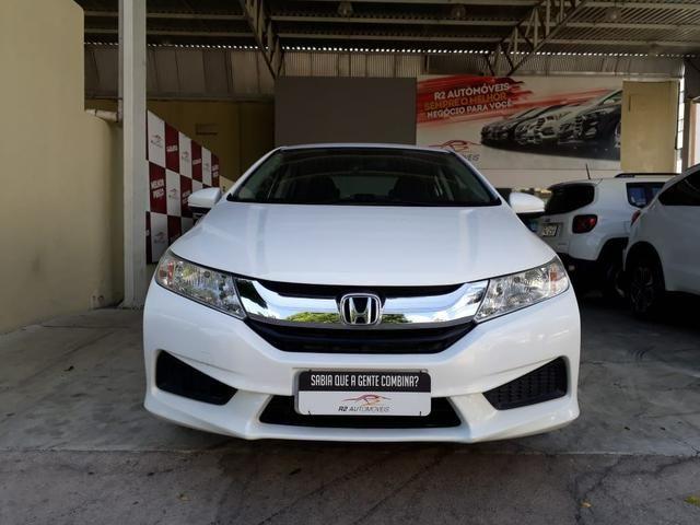 Honda 2015 City 1.5 lx cvt Automatico completo branco confira - Foto 3