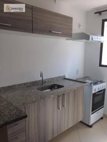Apartamento com 1 dormitório para alugar, 30 m² por R$ 1.225,00/mês - Centro - São Carlos/ - Foto 4