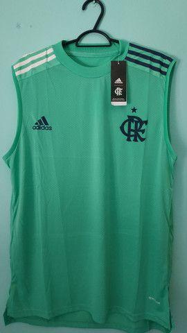 Camiseta do Flamengo Verde Treino Masculina 2020/21