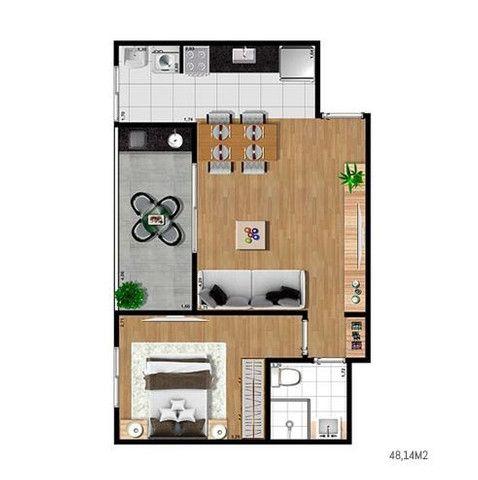 Easy Home 1 dorm varanda Gourmet -J.d Aquarius - Localização Privilegiada - Foto 12