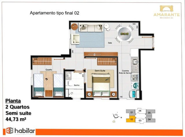Apartamento em Samambaia Sul Com 2 Quartos - Residencial Amarante - Foto 2