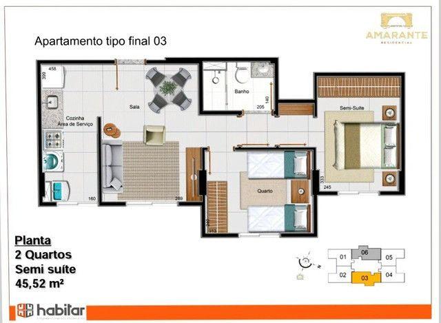 Apartamento em Samambaia Sul Com 2 Quartos - Residencial Amarante - Foto 18