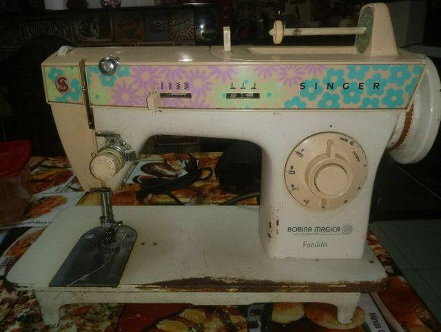 Máquina de costura + tecidos e aviamentos. - Foto 2
