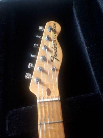 Guitarra Fender telecaster thinline 69 sunburst troca stratocaster - Foto 4
