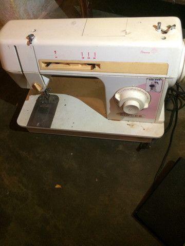 Máquina para costura singer LP 402 B 110V cor laranja  RELÍQUIA