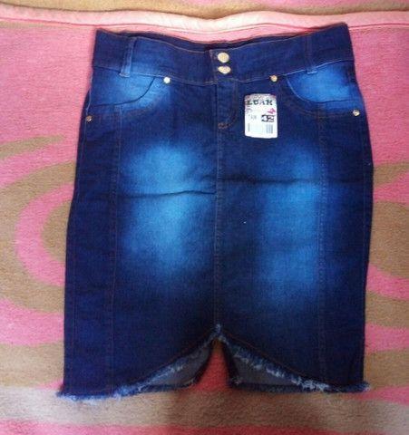 Saia jeans secretaria moda evangélica  - Foto 2