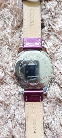 Relógio GUESS GLITTER ORIGINAL Lilás - Foto 2