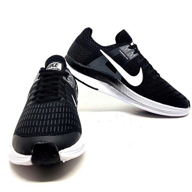 Kit 2 Tênis 1 Nike Air Force Gucci + 1 Nike Dynamic Preto e Branco - Foto 2