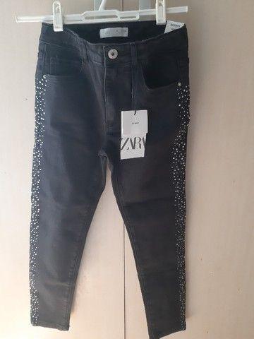 Calça jeans zara kids nova - Foto 2