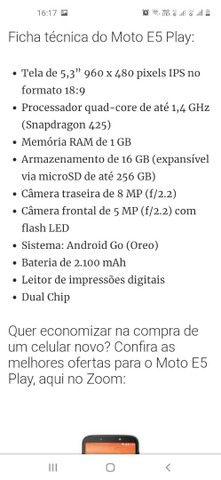 Telefone Motorola modelo E5 play já  é  Menor preco - Foto 3