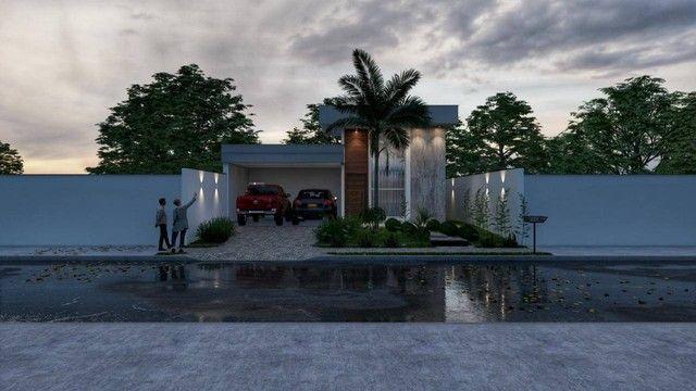 Excelente casa nova alto padrão com 3 suítes, sendo 1 com closet na 505 sul - Foto 5