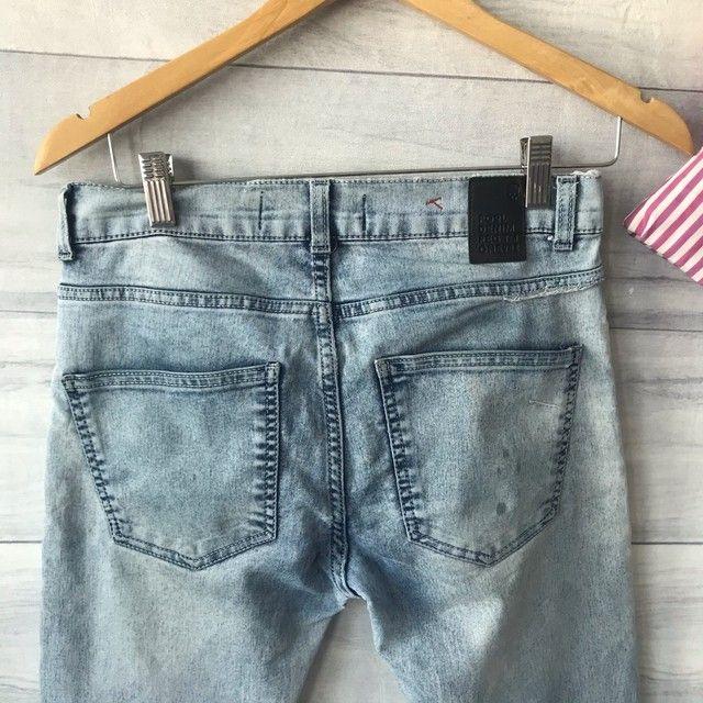 Calça Jeans Clara | Cintura Alta | Seminova | Brechó  - Foto 3