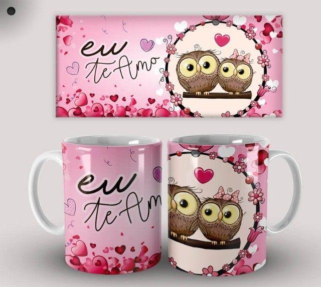 Par de Canecas de Cerâmica Dia dos Namorados (Promoção) - Foto 3