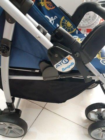 Travel System Burigotto AT6 Azul Bikes estado de novo já higienizado   - Foto 2