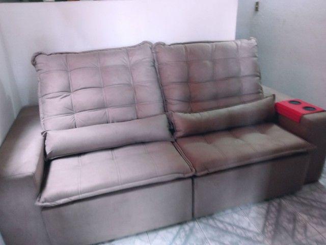 Troco .... Sofa nova ... Lan shopping .. So troco por retratil e reclianvel tbm - Foto 2