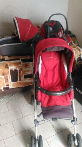 Carrinho de Bebé 3 em 1 Peg Pérego - Carrinho - Moises - Bebe Conforto - Foto 3