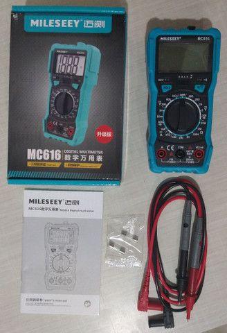 Multímetro digital MC616 Milessey NCV,lanterna,back ligthBip,Led buzzer,Led NCV - Foto 6