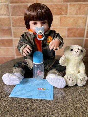 Bebê Reborn Menino Todo em Silicone realista Novo Original (aceito cartão ) - Foto 2