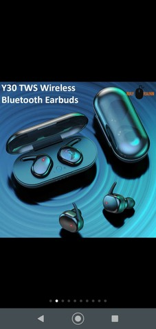 Fone Y30 Tws De Ouvido Sem Fio  Bluetooth Controle De Toque Headset