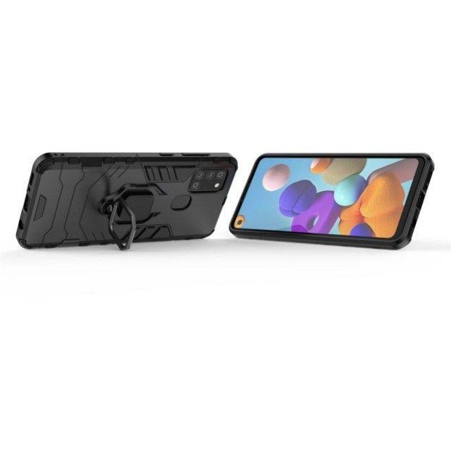 Capa 4 em 1 Anti Impacto Choque Militar Samsung Galaxy A21S, aceito cartão - Foto 5