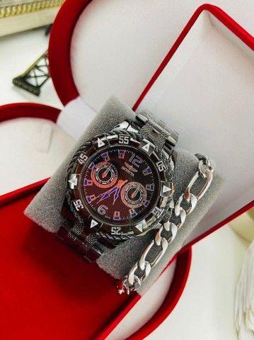 Relógio masculino com acessórios - Foto 4