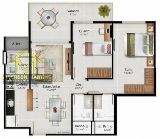 Apartamento à venda com 2 dormitórios em Jardim camburi, Vitória cod:8628 - Foto 20