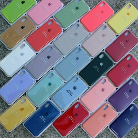 Capa Silicone aveludada Apple IPhone 6, 6s, 6s Plus, 7, 7 Plus, X, Xs, Xr