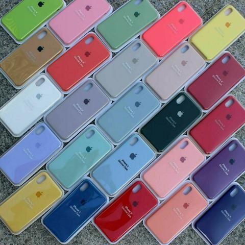 Capa Silicone aveludada Apple na caixa lacrado IPhone 7/8 7/8 plus X/XS XR 11 - Foto 3
