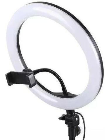 Entrega Grátis!!! Ring Light Foto Make Tripé 2 metros Iluminador Led Com Garantia - Foto 4