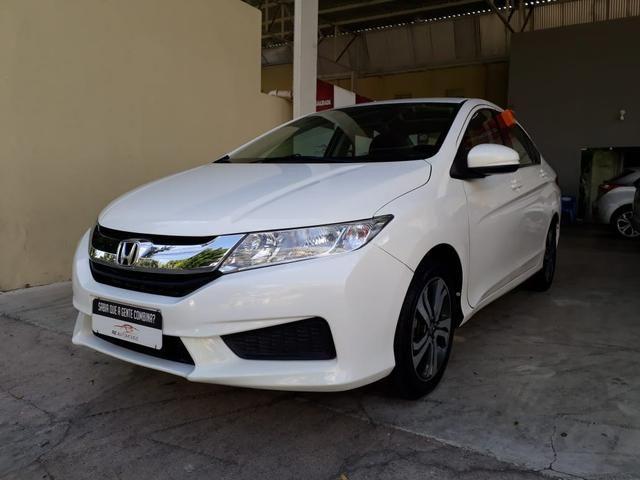Honda 2015 City 1.5 lx cvt Automatico completo branco confira - Foto 2