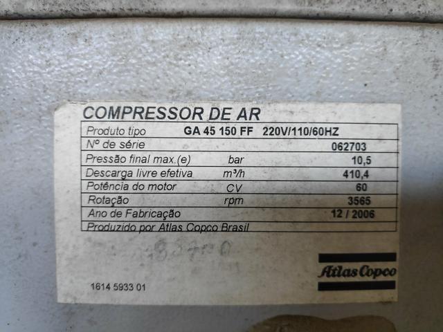 Compressor de ar atlas GA45 FF