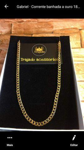Correntes banhadas a ouro 18k + pingente   Garantia de 6 meses. - Foto 6