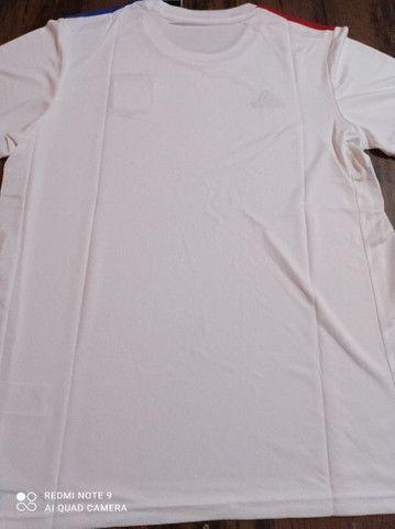 Camisa de time Lyon Adidas tamanho GG - Foto 4