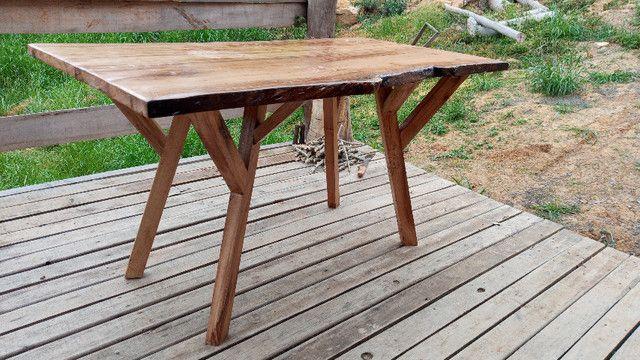 Mesa de jantar rústica - Foto 5