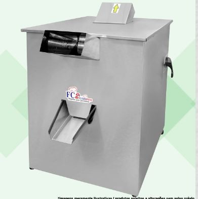 Maquina de moer cana elétrica 200 litros hora total inox - douglas