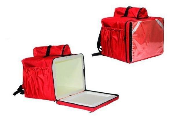 Mochila Termica para Entregas Moto 45 Litros Isopor Vermelha Bolsa Entregador - Foto 2