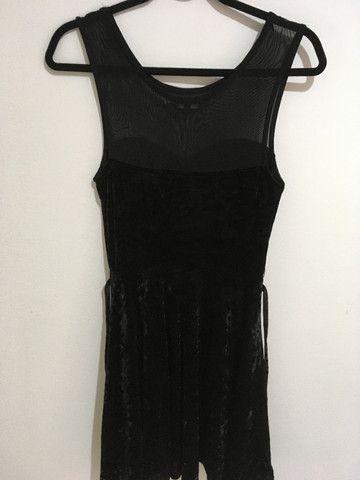 Vestido veludo preto - Foto 2